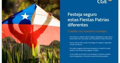 CGE reitera recomendaciones de seguridad en Fiestas Patrias