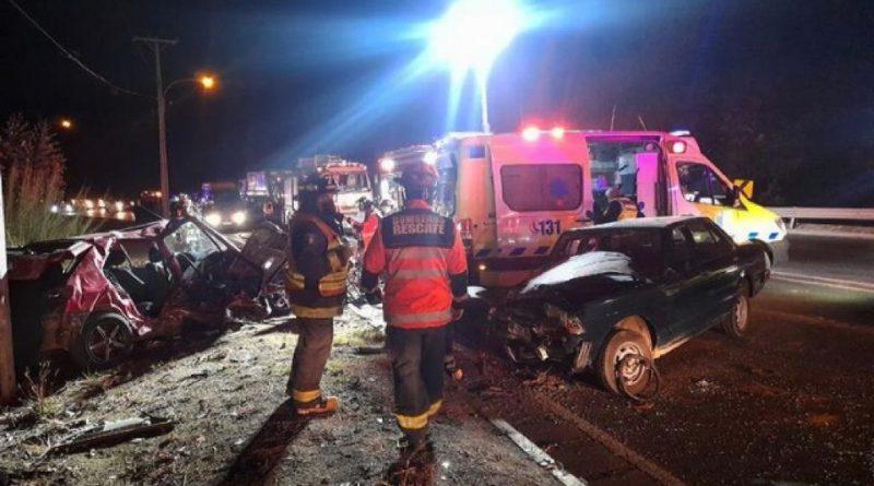 Accidente de tránsito salida túnel Gemelos, ruta Las Palmas