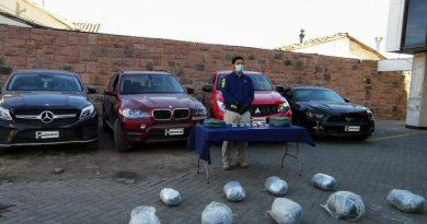 Policía de los Andes incautó droga y vehículos de alta gama